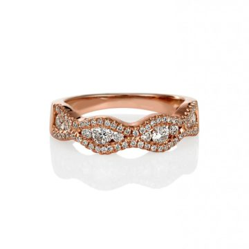 Barcelona – Rose Gold Puzzle Ring with Marquise Design