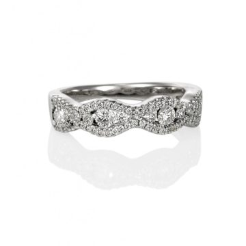 Barcelona – White Gold Puzzle Ring with Marquise Design