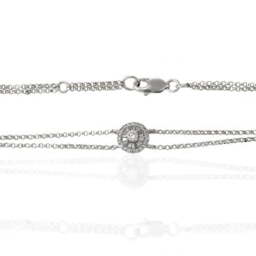 Firenze – White Gold Deco Circle Bracelet with Diamonds