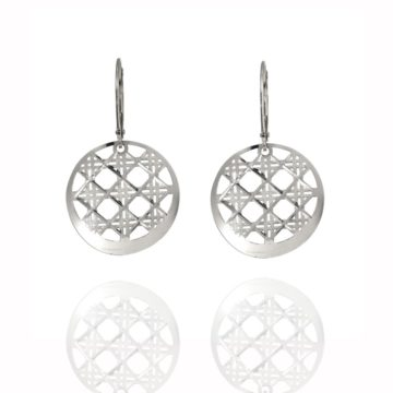 Roma – 18ct White Gold Lattice Earrings