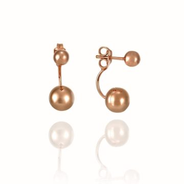 Sorrento – 18ct Rose Gold Double Ball Earring