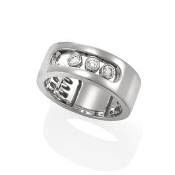 Seville 18ct White Gold Moving Diamond Ring