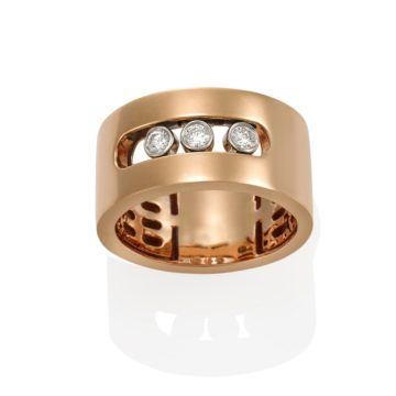 Seville 18ct Rose Gold Moving Diamond Ring