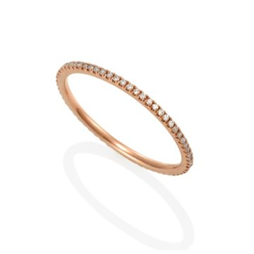 Bella – Rose 18ct Gold Eternity Full Band