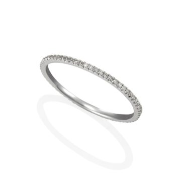 Bella – White 18ct Gold Eternity Full Band