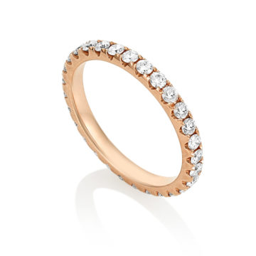 Bella Maxi- 18ct Rose Gold Diamond Eternity Full Band