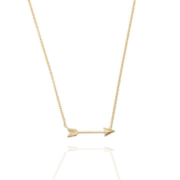 Cupids Arrow Necklace – 18ct Yellow Gold
