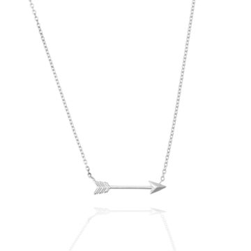 Cupids Arrow Necklace – 18ct White Gold