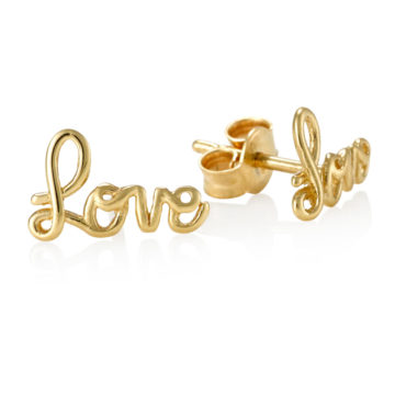 Dolce –  Love Earrings in 18ct Yellow Gold