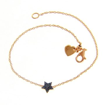 Star Bracelet in Rose Gold with Sapphire