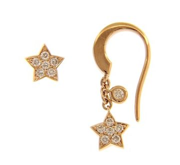 Match Me If You Can Rose Gold Star Earrings