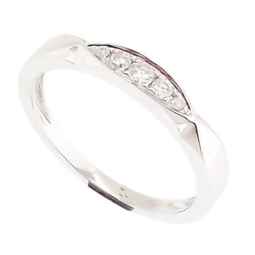 Bari – 18K White Gold Twist Marquise Shape Collectors Stack Ring