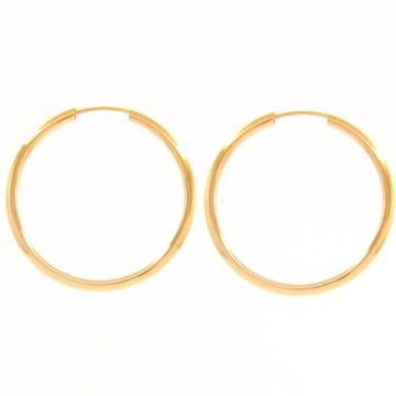 Rio – Midi Minimalist 18ct Yellow Gold Hoop Earrings