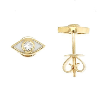 Intuite – 18kt Yellow Gold Stud Eye with Diamond